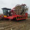 Een onderwagen voor het oogsten van prei